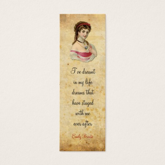 The Lady bookmark Mini Business Card