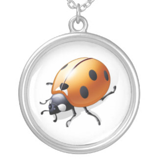 The Lady Bug Round Pendant Necklace