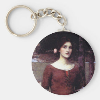 The Lady Clare Basic Round Button Keychain