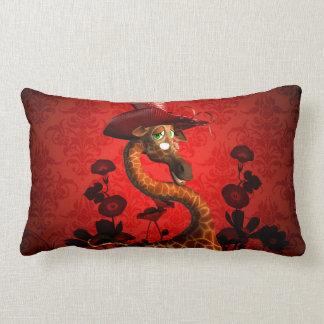 The lady, cute giraffe lumbar pillow