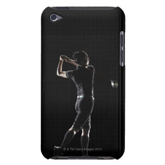 The lady golfer swings the driver of golf iPod Case-Mate case