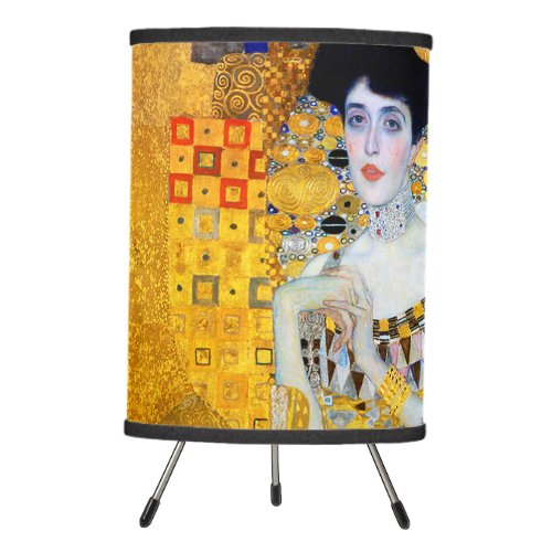 The Lady in Gold Gustav Klimt Tripod Lamp