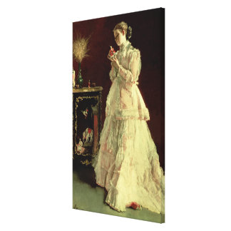The Lady in Pink, 1867 Canvas Print