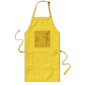 The Lady in the Big Hat #2 Long Apron