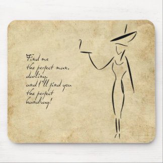 The Lady in the Big Hat #2 Mouse Pad