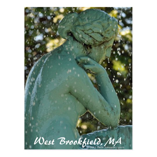 The Lady in the Fountain West Brookfield Post Card