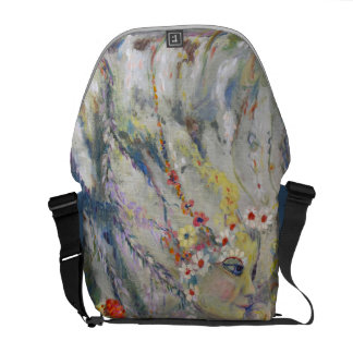 The Lady in the Waterfall Courier Bag