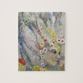 The Lady in the Waterfall Jigsaw Puzzle
