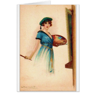 The Lady is an Artist, Card