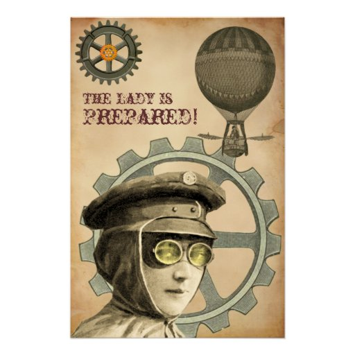 The Lady Is Prepared ~ Steampunk Poster