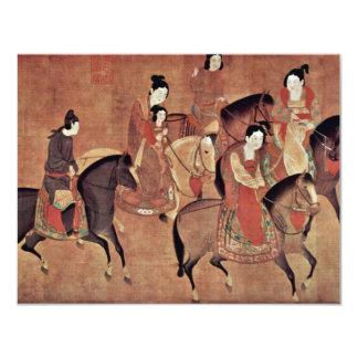 The Lady-Kuo Kuo And Her Sisters From Riding By Li 4.25x5.5 Paper Invitation Card