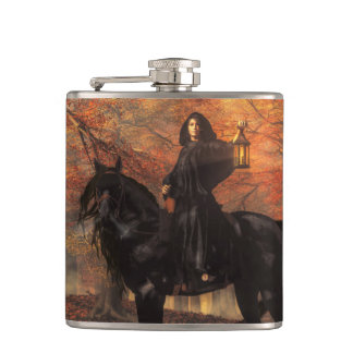 The Lady of Halloween Hip Flask