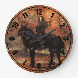 The Lady of Halloween Large Clock