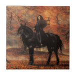 The Lady of Halloween Small Square Tile