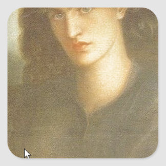 The Lady of Pity by Dante Gabriel Rossetti Square Sticker