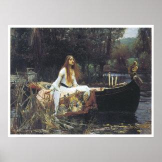 The Lady of Shallot, 1888 John William Waterhouse Poster