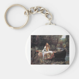 The Lady Of Shallot Basic Round Button Keychain