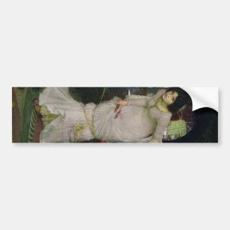 The Lady of Shallot by John Waterhouse Car Bumper Sticker