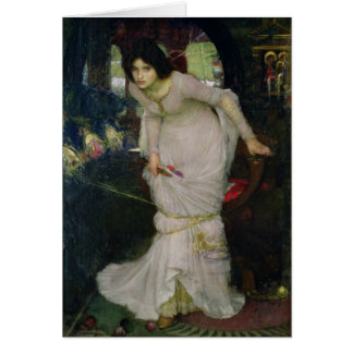 The Lady of Shallot by John Waterhouse Greeting Card
