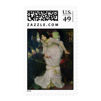 The Lady of Shallot by John Waterhouse Postage Stamps