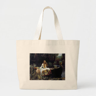The Lady of Shallot Large Tote Bag