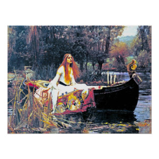 The Lady of Shalott, Art Nouveau painting Print