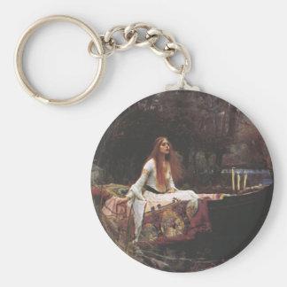 The Lady of Shalott Basic Round Button Keychain