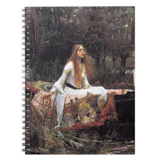 The Lady of Shalott by John W. Waterhouse Spiral Note Books