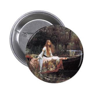 The Lady of Shalott by John W. Waterhouse Pinback Button