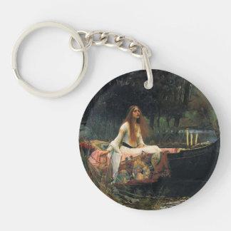 The Lady of Shalott by John William Waterhouse Keychain