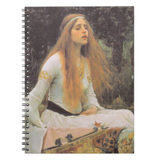 ThE LaDY oF SHaLOTT, by John William Waterhouse Spiral Notebook