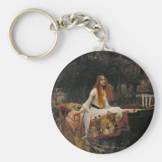 The Lady of Shalott, John William Waterhouse Basic Round Button Keychain