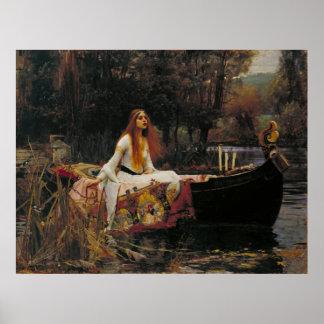 The Lady of Shalott, John William Waterhouse Poster