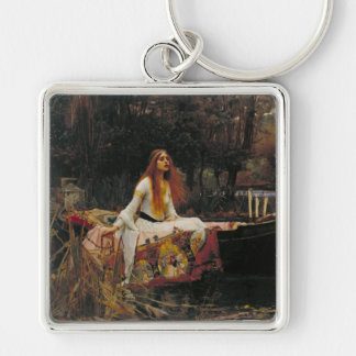 The Lady of Shalott, John William Waterhouse Silver-Colored Square Keychain