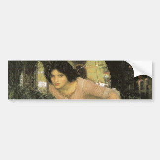 ThE LaDY oF SHaLOTT LoOKiNG aT LaNCELoT Bumper Sticker