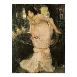 ThE LaDY oF SHaLOTT LoOKiNG aT LaNCELoT Postcard