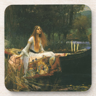 The Lady of Shalott On Boat by JW Waterhouse Coasters
