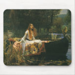 The Lady of Shalott (On Boat) by JW Waterhouse Mousepads