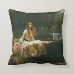 The Lady of Shalott (On Boat) by JW Waterhouse Pillows