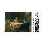 The Lady of Shalott On Boat by JW Waterhouse Stamp