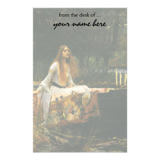 The Lady of Shalott On Boat by JW Waterhouse Stationery