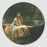 The Lady of Shalott (On Boat) by JW Waterhouse Classic Round Sticker
