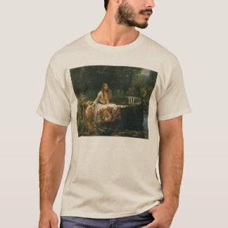 The Lady of Shalott On Boat by JW Waterhouse T-Shirt