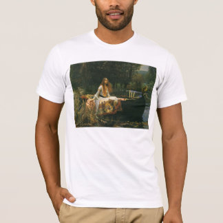 The Lady of Shalott On Boat by JW Waterhouse T-Shirt