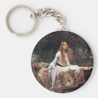 The lady of shalott painting basic round button keychain