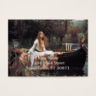 The lady of shalott painting business card