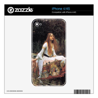 The lady of shalott painting decal for the iPhone 4S