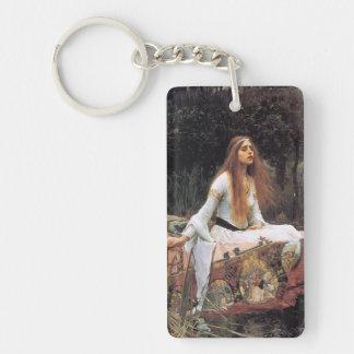 The lady of shalott painting Double-Sided rectangular acrylic keychain