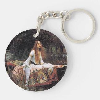 The lady of shalott painting Double-Sided round acrylic keychain