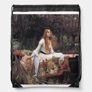 The lady of shalott painting drawstring bag